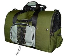 Celltei Backpack-o-Pet - Cordura(R) Green and Light Grey - Large Size * For more information, visit now : Dog harness