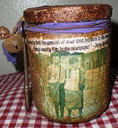 Grubby Candle jar