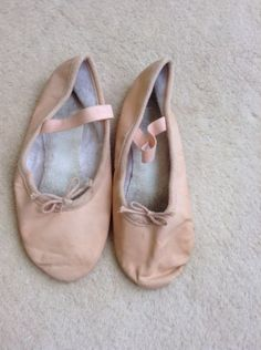 Pink leather girls #ballet shoes size 2.5 dance #dancing #slippers,  View more on the LINK: 	http://www.zeppy.io/product/gb/2/162199297442/