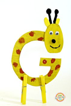 Letter G craft is one of the most fun letters and animals we got to make.