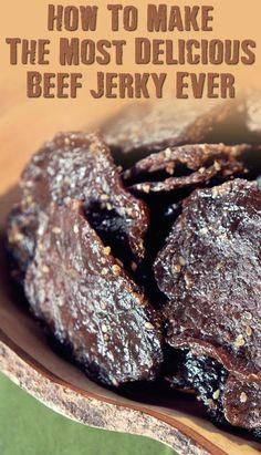 Make The Best Beef Jerky Ever - SHTFPreparedness - How To Make The Most Delicious Beef Jerky Ever – If SHTF, I won't be eating the expensive store - Beef Jerky Marinade, Smoked Beef Jerky, Beef Jerkey, Best Beef Jerky Recipe Dehydrator, Beef Jerky Seasoning, Smoked Jerky Recipe, Beef Jerky In Smoker, Traeger Jerky Recipe, Food Dehydrator