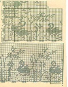 Gallery.ru / Фото #168 - Птицы (схемы) 4 - Olgakam Fair Isle Chart, Cross Flag, Filet Crochet Charts, Fillet Crochet, Crochet Birds, Cross Stitch Bird, Chair Covers, Chrochet, Doilies