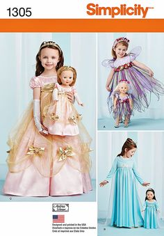 Dolly and Me Princess Costumes Pattern Sz 3 to 8 by blue510