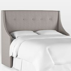 Sloped Wingback Upholstered Headboard