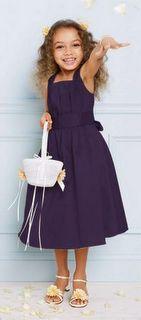 purple glam flower girl