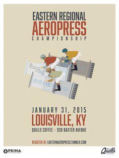 Eastern Regional Aeropress Championship | January, 31st, 2014 | Louisville, KY. #coffee #aeropress #graphicdesign