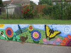 Nightingale Primary School: Minibeast playground mural | Flickr