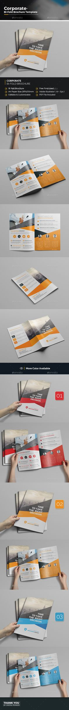 Bi fold Business Brochure  - EPS Template • Only available here ➝ http://graphicriver.net/item/bi-fold-business-brochure/16827865?ref=pxcr