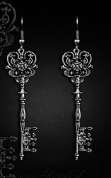 Restyle Gothic Key To Wonderland Earrings from kate's clothing