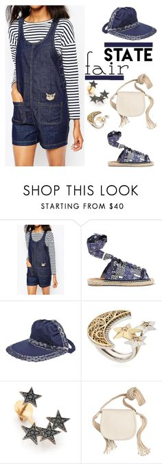 """""""Summer Date: The State Fair"""" by yours-styling-best-friend ❤ liked on Polyvore featuring Chloé, Maison Michel, AZZA FAHMY, Kismet by Milka and H&M"""