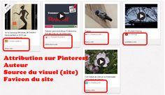 Pinterest permet une meilleure visibilité de l'attribution d'images ou de vidéos épingles par ses utilisateurs.