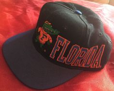 277bf362656 Vintage 90 s Florida Gators Apex One Embroidered Snapback Hat Script   Apexone  BaseballCap Florida Gators