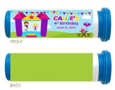 Bounce House (Girls) Mini Candy Tube Wrapper - Party Favor
