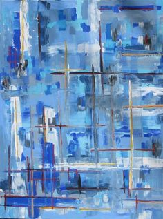 Blue weave by Linda Donohue