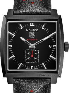 Tag Heuer Monaco Calibre 6 Automatic Watch Full Black 37 mm WW2119.FC6338
