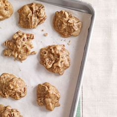 """Pecan Pralines"" -- This is the most unusual praline recipe I've ever seen, as it calls for melted vanilla bean ice cream!  Also, requires a candy thermometer."