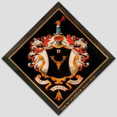 Hatchment of William Parker, 7th Baronet (c. 1770–1830).  Church of the Holy Trinity, at Long Melford, Suffolk, England.