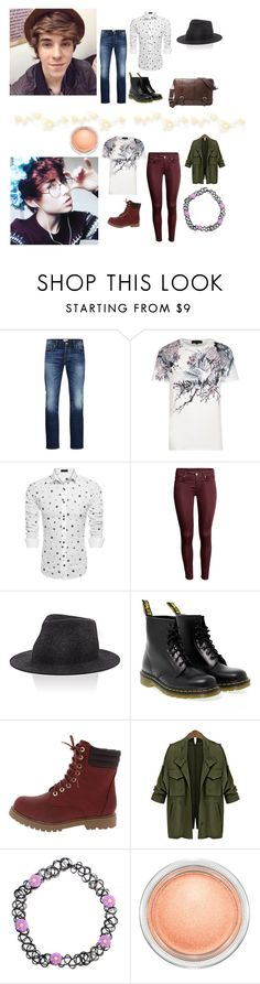 """{Pixie Hollow Boys}"" by anonsandsuch ❤ liked on Polyvore featuring Jack & Jones, River Island, rag & bone, Dr. Martens, MAC Cosmetics and FOSSIL"