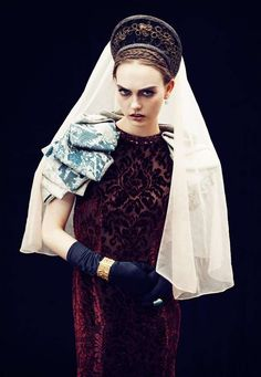 Modern Baroque Fashion - The Vogue Netherlands 'Neo-Victorian' Editorial Stars Anna de Rijk (GALLERY)