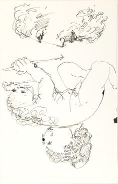 Image of Untitled (male figure with spear and two heads) 1970-79.