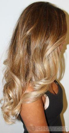 24インチボディ、約100%の人間の毛髪のよこ糸は、セクシーと独占カール