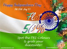 Spot the #Tri-colours on the products at any of the Nature's Co. stores and grab FLAT 50% #discount. Offer in stores only.