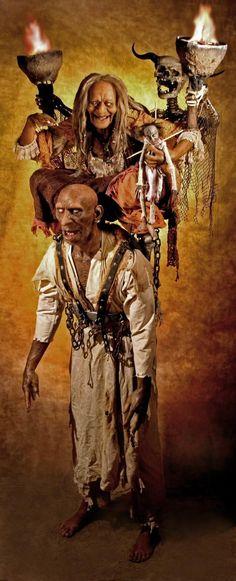 Thomas Kuebler life size sculpture voodoo hoodo grandma zombie