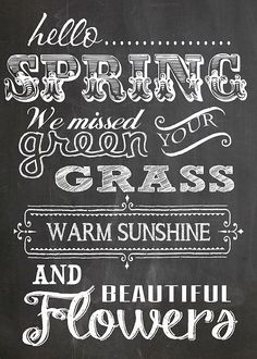 Hello Spring  Free Chalk Board Printable - 5x7.jpg - Download at 4shared