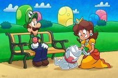 Luigi And Daisy, Super Mario, Nintendo, History, Twitter, Fictional Characters, Tv, World, Videogames