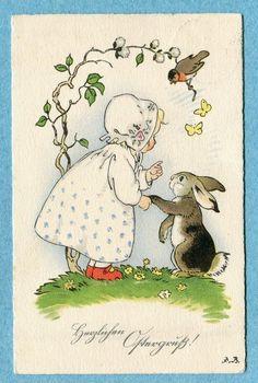Fritz Baumgarten Easter postcard
