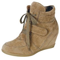 Beata-02 High Top Wedge Sneaker Booties – DWDShoes