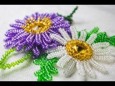Цветы из бисера : Ромашка - YouTube
