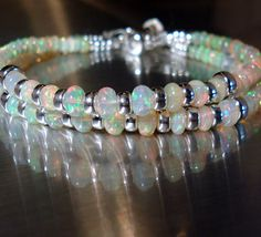 Ethiopian Fire Opal bracelet, Jewelry by Jacoby