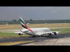AIRBUS A380 Landings and Departures - Emirates - YouTube