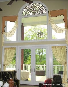 Everyday Artist: Two-Story Window Treatment - The Design Process