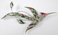 Extremely RARE Marcel Boucher MB Metallic Enamel Hummingbird Pin No Reserve | eBay