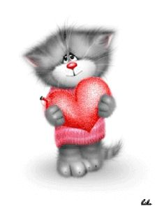 Valentines Illustration, Funny Illustration, Bisous Gif, Baby Animals, Cute Animals, Image Chat, Tatty Teddy, Cat Tattoo, Funny Animal Pictures