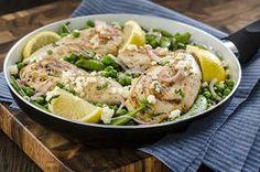 """Greek Taverna Chicken Feta Pea Medley #recipe: Invite """"Opa!"""" to dinner tonight."""