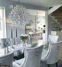 Dining Room Table Decor, Elegant Dining Room, Luxury Dining Room, Dining Room Design, Dining Room Furniture, Living Room Decor, Furniture Stores, Dining Rooms, Furniture Design