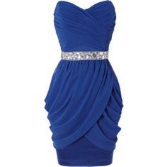 Chiffon drape bandeau dress