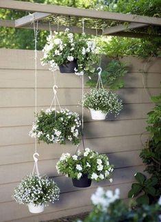 Jardin Vertical Diy, Vertical Garden Design, Vintage Garden Decor, Low Maintenance Garden, Rustic Gardens, Spring Garden, Hanging Plants, Garden Inspiration, Garden Ideas