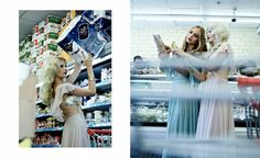 supermarket fashion shoot | Desperate Housewives, fashion editorial by Shay Kedem