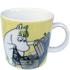 arabia Moomin Mugs, Ceramic Pottery, Ceramics, Yellow, Tableware, Cute, Hall Pottery, Pottery, Dinnerware