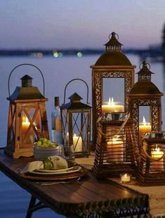 Candle Lanterns, Candle Sconces, Beach Bonfire, Summer Memories, Beautiful Candles, Summer Nights, Fireworks, Gazebo, Wall Lights