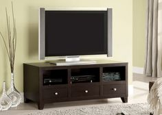 TV Stand CM5083-TV CAPULIN Showcase a flat screen TV on this modern console. Sale For $310