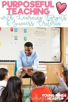 It is important to have a purpose when you teach. It is important to explicitly tell your students WHAT they will be learning, HOW they will be successful in mastering that skill and WHY it is an important skill to learn. Click the link to read this blog post and find ready made learning targets and success criteria for kindergarten, 1st, 2nd, 3rd, 4th and 5th grade! #teachingblogs #learningtargets #successcriteria #teachwithapurpose