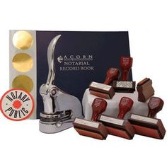 Supreme Chrome Notary Seal Kit - Notary Seals Online Want to get all of your notary supplies at once? Check out the *Supreme *Chrome Gift *Notary *Seal Package at Acorn Sales. Add a classy touch to your office.
