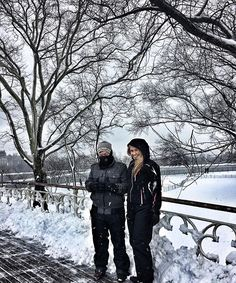 A walk in the park  #nyc #centralpark #snow #snowday #motherson #spring #family #familygoals