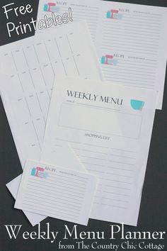 Weekly Menu Planner System With Free Printables