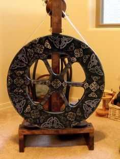 Ashford Kiwi with Celtic theme black paint with stenciling